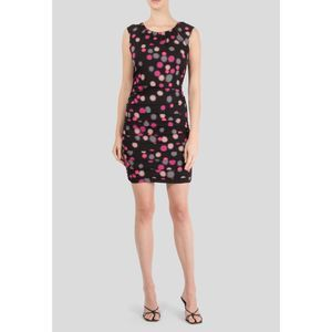 Diane Von Furstenberg Polka Dot Ruched Dress Sz 4